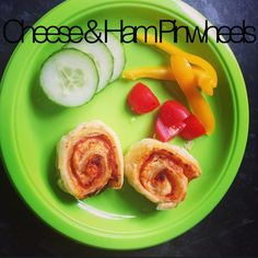 cheese and ham pinwheels