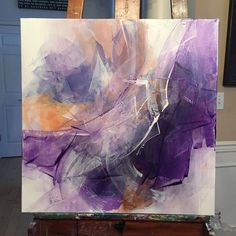 """101 Likes, 16 Comments - Tracy Male (@tlmale) on Instagram: """"Color of the year 2018 is Ultra Violet, one of my favorite colors! Intrigue   Mixed Media  24"""" x…"""""""