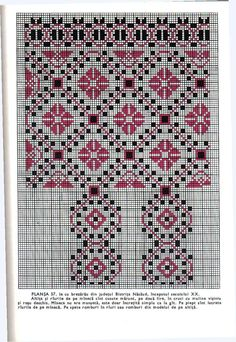 *etnobiblioteca*: Culegere de cusături populare de Leogadia Ștefănucă Simple Cross Stitch, Cross Stitch Borders, Medieval Embroidery, Hand Embroidery, Bargello, Craft Patterns, Pixel Art, Needlework, Bohemian Rug