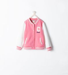 Image 1 of FLEECE BASEBALL JACKET from Zara
