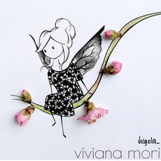 Uploaded by eleflock. Find images and videos about fashion, pink and flowers on We Heart It - the app to get lost in what you love. Dress Design Sketches, Art Sketches, Illustration Art Drawing, Graphic Illustration, Vincent Bal, Bee Art, Little Doll, Floral Illustrations, Portrait Art