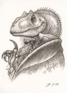 fuckyeahdinoart:  Darwin the Allosaurus by ~Himmapaan
