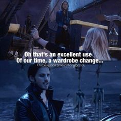 Haha I like Hook's new passive aggressiveness towards Rumple, I hope they see each other again on the island so it can continue! :D