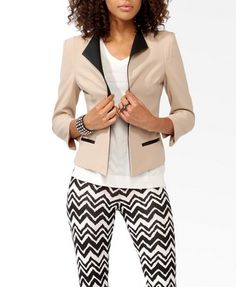 Textured Coated Lapel Blazer  $34.80 blazer the pants not so much....