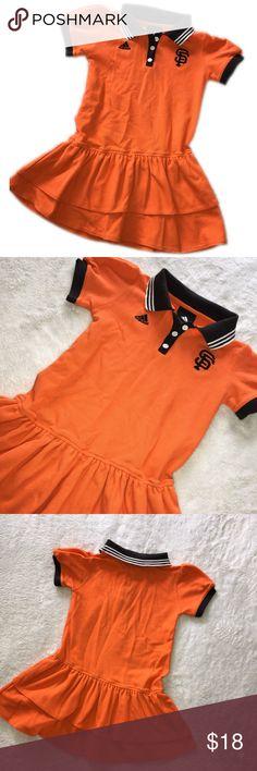 San Francisco Giants Dress - girls 6X - ADIDAS Cute ADIDAS dress girls size 6X - orange and black for SF Giants.  Black and white collar, black trim sleeve, plain back. Adidas Dresses Casual