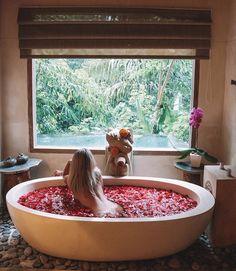 Pin on Honeymoon Romantic Bath, Jacuzzi Outdoor, Interior And Exterior, Interior Design, Backyard Bar, Bath Girls, Relaxing Bath, Boudoir Photos, Bath Time