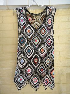 Granny Square Tank Top Dress by TinaCrochet2016 on Etsy