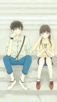 Safebooru is a anime and manga picture search engine, images are being updated hourly. Couple Anime Manga, Couple Amour Anime, Anime Sweet Couple, Manga Anime, Fanart Manga, Film Manga, Cute Couple Cartoon, Cute Couple Art, Anime Couples Drawings