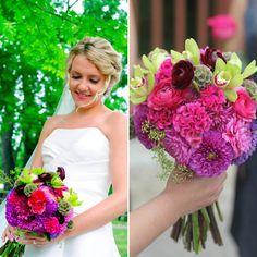 A Beautiful Bride Deserves a Vibrant Bouquet - Make sure your Bouquet is as Unique & Lovely as You are! (bouquet by Blossom & Branch Designs, inc.)