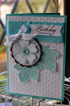 """""""Flower Shop"""" set for the pansy flower then the single stamp """"Magnificent Maple"""" which has so much detail on.  The greeting is from the """"Wetlands"""" stamp set die cut using a framelit from the new """"Thinlits Circle Card"""" set."""