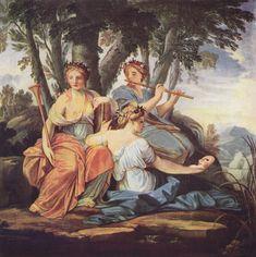 ***Eustache Le Sueur, las Musas Clio, Euterpe y Talia, h. 1647-1650.