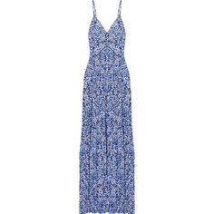 Chiltington floral-print jersey maxi dress, Michael Michael Kors,... (5.775 CZK) ❤ liked on Polyvore featuring dresses, embellished dress, jersey maxi dress, floral dress, floral print dress and blue jersey