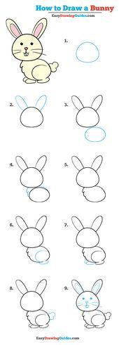 Learn to draw: Easy step by step drawing tutorials for kids and . - Learn to Draw: Easy Step by Step Drawing Tutorials for Children and Beginners L … – Learn How t - Easy Drawing Tutorial, Drawing Tutorials For Kids, Easy Drawings For Kids, Drawing For Beginners, Drawing For Kids, Easy Bunny Drawing, Easy Pics To Draw, Easy Animal Drawings, Art Tutorials