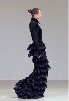 Ruffle dress. Mode-sty: fashion for conservative stylish women. Sign up at www.mode-sty.com