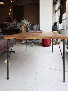 画像3: ≪鉄脚≫【黒皮仕様 カフェテーブル脚 55cm/ビス付/4本1セット】 (3)