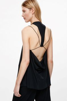 COS image 3 of Top with string draped back in Black