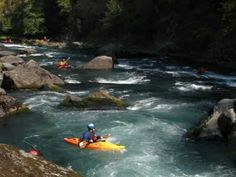 The Lower Columbia Canoe Club and friends run various sections of the North Umpqua River in the third week of September. Level was around 810 cfs.