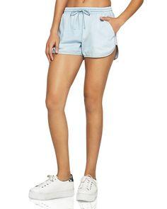 BCBGeneration Denim Drawstring Shorts