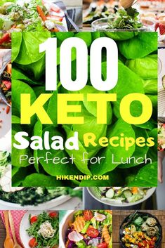 100 Filling Keto Salad Recipes that are ideal for Lunch Today - Hike n Dip Bacon Spinach Salad, Spinach Salad Recipes, Kale And Spinach, Savory Salads, Easy Salads, Ketogenic Recipes, Healthy Recipes, Keto Foods, Diet Recipes