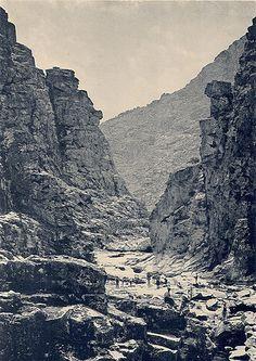 Rio Varosa em Sande ( Afluente do Rio Douro )  Fototipia de Emílio Biel de finais do séc. XIX