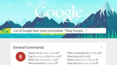 Learn Over 60 Google Now Commands with This Infographic - Lifehacker