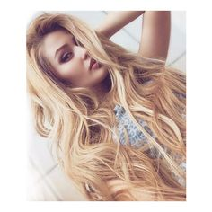 Ready to Ship 100 Brazilian Human Hair Blonde Ombre Wig ($425) ❤ liked on Polyvore featuring beauty products, haircare, hair styling tools, bath & beauty, grey, hair care and wigs