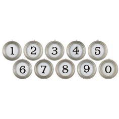 Aidan Gray Typewriter Numbers Set found on Polyvore