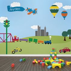 Kids Room Ideas with City Garden Wall Mural Application in Your Wall Murals for Kids Room www.muralspro.com
