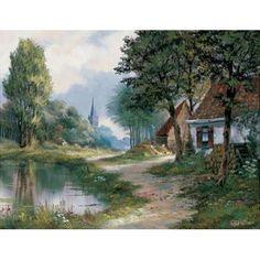 Path of peace Canvas Art - Reint Withaar (22 x 28)