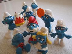 These little rubber Smurfs were favorites of mine too, also my stuffed Smurfette doll.