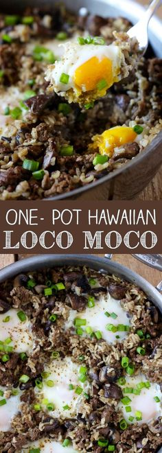Pot Hawaiian Loco Moco One Pot Hawaiian Loco Moco - an easy one-pot breakfast or dinner version of the local Hawaiian comfort food.One Pot Hawaiian Loco Moco - an easy one-pot breakfast or dinner version of the local Hawaiian comfort food. Brownie Desserts, Moca, Hawaiian Loco Moco, Hawaiian Luau, Hawaiian Islands, Hawaiian Dishes, Hawaiian Recipes, Hawaiian Chili Recipe, Breakfast Recipes