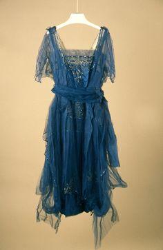 Evening Dress, Girolamo Giuseffi (1864-1934) for G. Giuseffi L.T. Company, USA: ca. 1915-1920, American, net, silk satin with metallic threads, sequins.