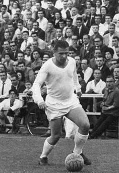 Con barriga de Temo Blanco, el legendario Ferenc Puskás, con la blanca del Real Madrid (1958-1966)