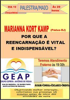 GEAP – Grupo Espírita Antonio de Pádua Convida para a sua Palestra Pública - Santo Antônio de Pádua – RJ - http://www.agendaespiritabrasil.com.br/2016/05/10/geap-grupo-espirita-antonio-de-padua-convida-para-sua-palestra-publica-santo-antonio-de-padua-rj-12/