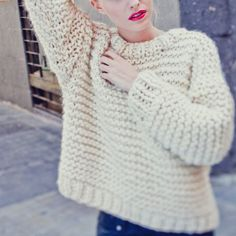 Nolita Sweater / tricoter un pull / kit de tricot pull / knitting kit sweater