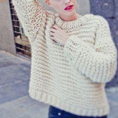 Nolita Sweater / tricoter un pull / kit de tricot pull / knitting kit sweater