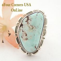 Four Corners USA Online - Size 8 Dry Creek Turquoise Sterling Ring Robert Concho Native American Indian Silver Jewelry NAR-1527, $174.00 (http://stores.fourcornersusaonline.com/size-8-dry-creek-turquoise-sterling-ring-robert-concho-native-american-indian-silver-jewelry-nar-1527/)