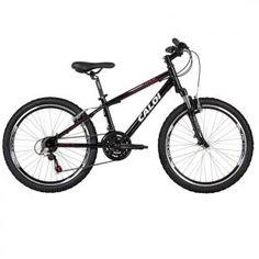 """Wild. Uma legítima mountain bike Caloi com aro 24"""", para as crianças que já querem iniciar nas trilhas."""