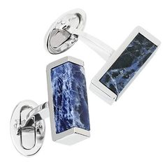 Sodalite Gemstone Slice Cufflinks