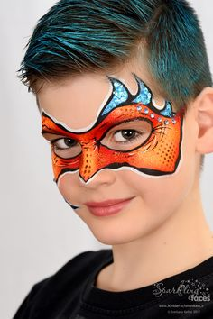 When you think about face painting designs, you probably think about simple kids face painting designs. Many people do not realize that face painting designs go Superhero Face Painting, Monster Face Painting, Dragon Face Painting, Face Painting For Boys, Face Painting Images, Face Painting Tips, Face Painting Designs, Dragon Makeup, Alien Makeup