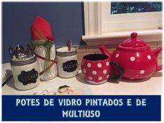 DIY: POTES DE VIDRO PINTADOS E DE MULTIUSO - YouTube