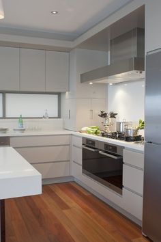#kitchens #handleless Ken Powell Architects 3141 Osprey