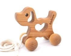 Any Personalized Wooden Car Wooden Toy for Babies by KeepsakeToys