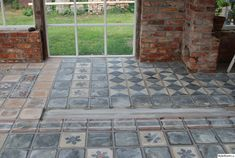 The floor I bought during a trip to France Stone Path, Stone Work, Outdoor Rooms, Outdoor Gardens, Outdoor Decor, Porches, Winter Garden, Textured Walls, Farm Life