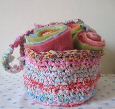 crochet rag bag