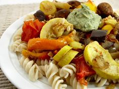 I love roasted vegetables so much. Put them on top of pasta and I'm absolutely sold!