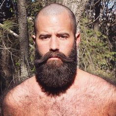 You sir. Look awesome! Bald With Beard, Bald Men, Beard Love, Hairy Men, Bearded Men, Scruffy Men, Badass Beard, Epic Beard, Great Beards