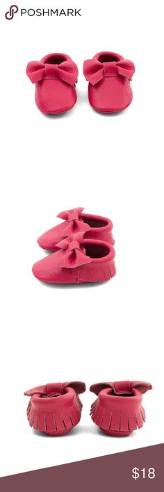 MAC&LOU BOW BABY LEATHER MOCCASINS FUCHSIA SWING MAC&LOU BOW BABY LEATHER MOCCASINS FUCHSIA SWING MAC&LOU Shoes Moccasins