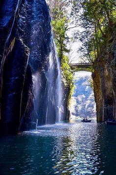 Les gorges de Takachiho dans la préfecture de Miyazaki, dans le Kyushu.