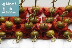 Chorizo met sud 'n sole en groene olijf